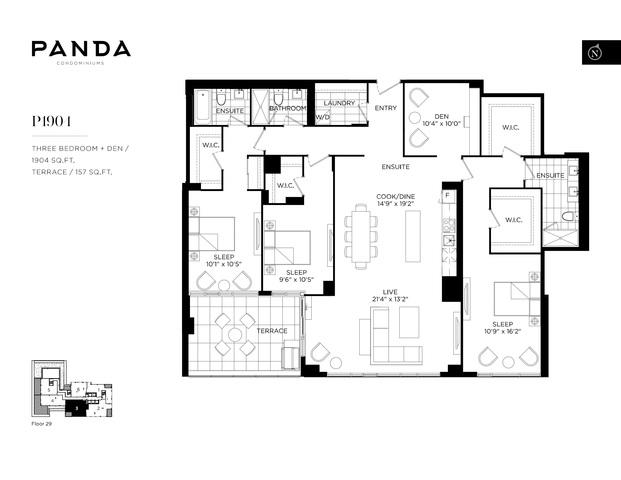 Panda Condos Floor plan #2