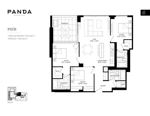 Panda Condos Floor plan #1