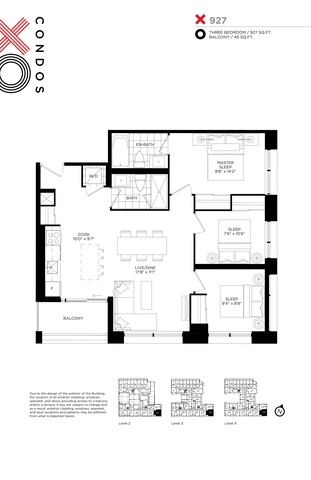 XO Condos Floor plan #3