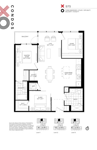 XO Condos Floor plan #2