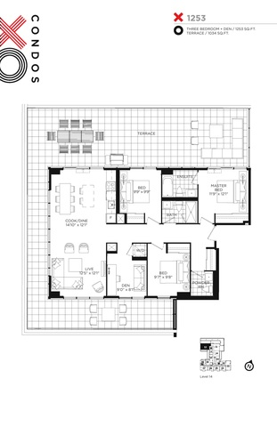 XO Condos Floor plan #1
