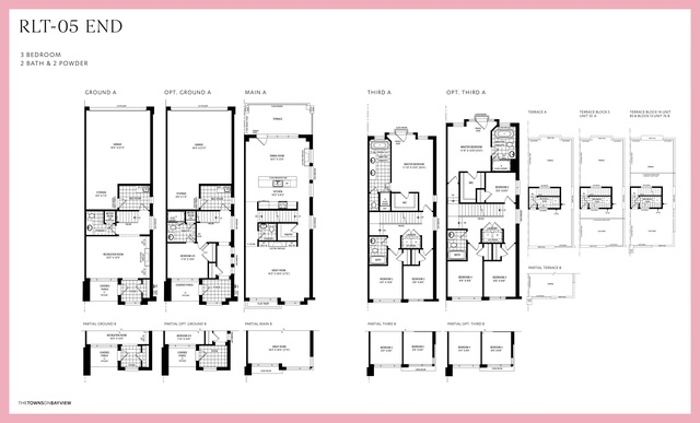 The Towns on Bayview  Floor plan #3