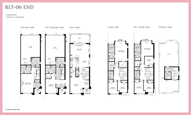 The Towns on Bayview  Floor plan #2
