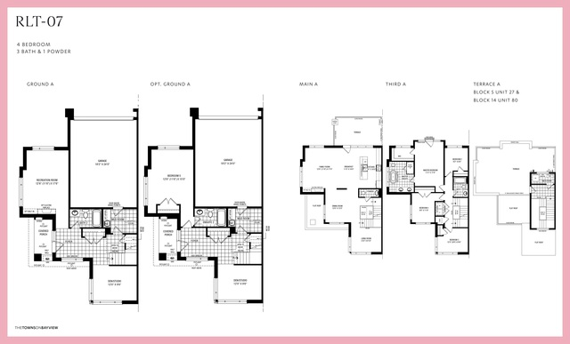 The Towns on Bayview  Floor plan #1