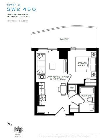 SXSW Tower 2 Condos Floor plan #3