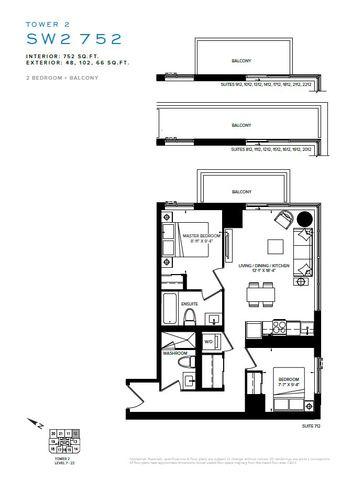 SXSW Tower 2 Condos Floor plan #1