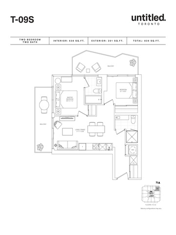 Untitled Toronto Condos Floor plan #3