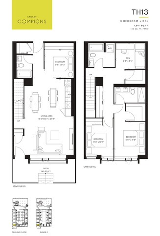 Canary Commons Floor plan #3