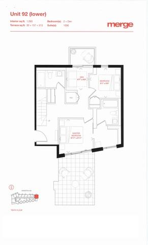 Merge Condos Floor plan #2
