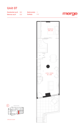 Merge Condos Floor plan #1