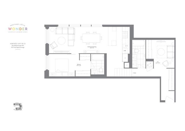 Wonder Condos Floor plan #2