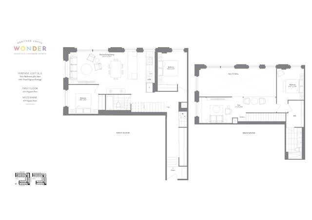 Wonder Condos Floor plan #1