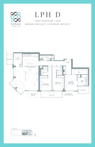 8888 Yonge Condos Floor plan #1
