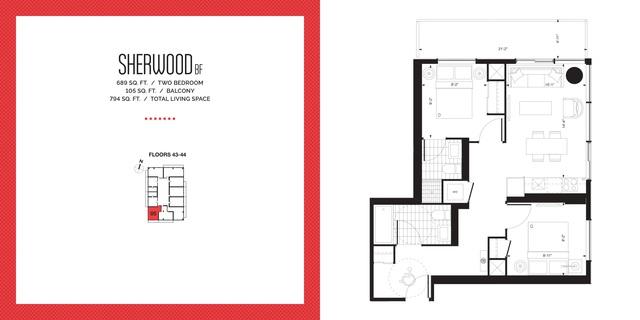 E2 Condos Floor plan #3