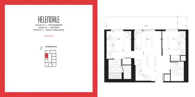 E2 Condos Floor plan #1