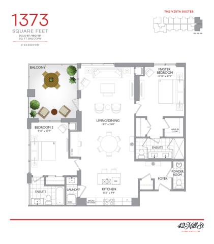 42 Mill Street Condos Floor plan #3