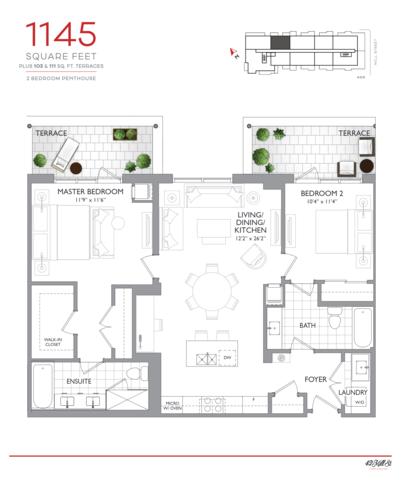 42 Mill Street Condos Floor plan #2