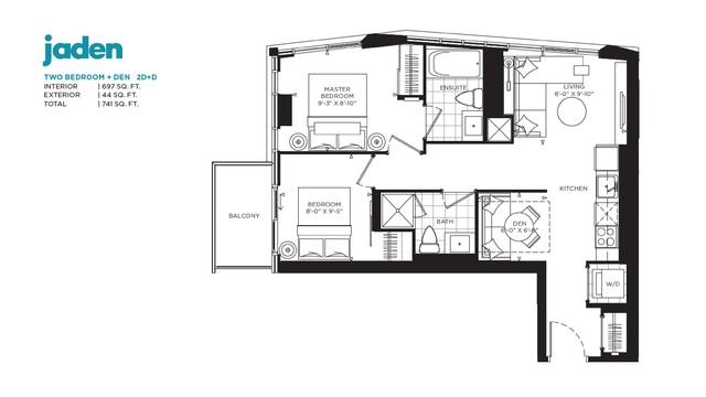 Jac Condos Floor plan #2