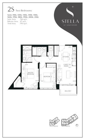 Stella at Southside Condos Floor plan #3