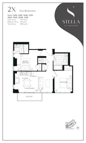 Stella at Southside Condos Floor plan #2