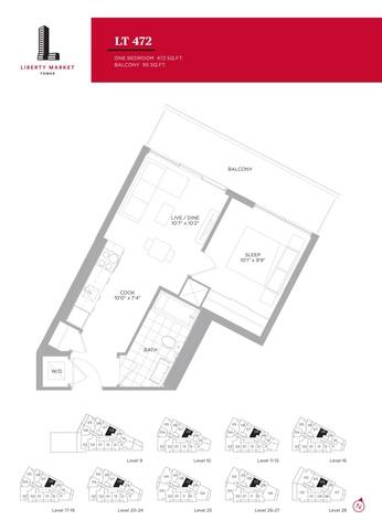 Liberty Market Tower Floor plan #3