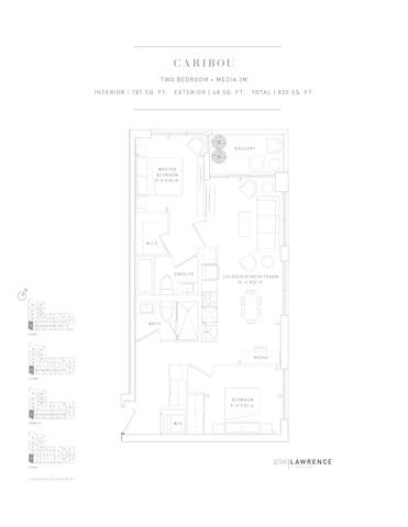 250 Lawrence Condos Floor plan #3