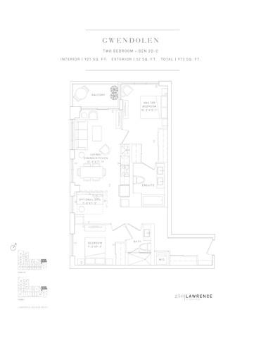 250 Lawrence Condos Floor plan #2