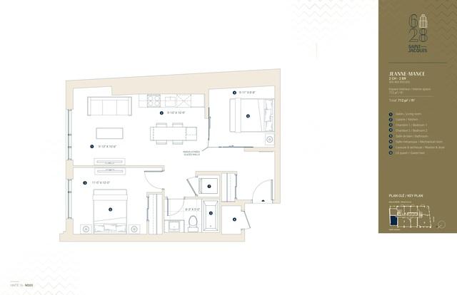 628 Saint-Jacques Condominiums Floor plan #2