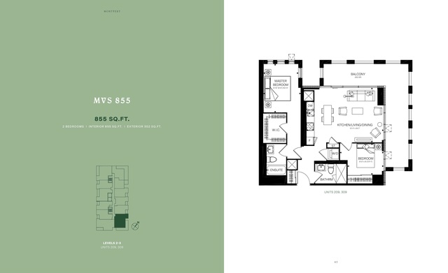 MontVert Condos Floor plan #3