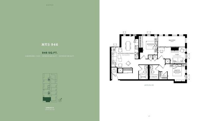 MontVert Condos Floor plan #2