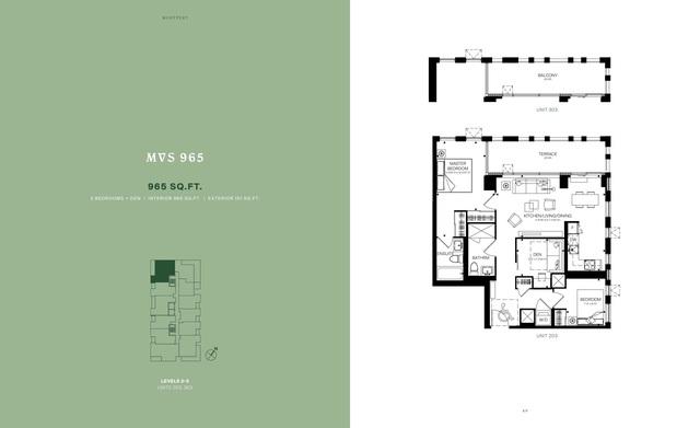 MontVert Condos Floor plan #1