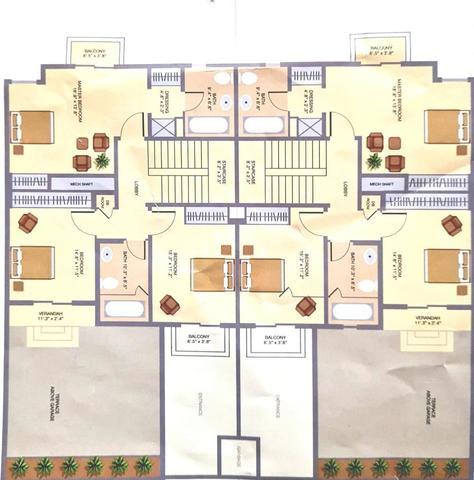 4 BHK CORNER TOWNHOUSE FOR SALE IN MARBELLA VILLAGE, VICTORY HEIGHTS Floor plan #1