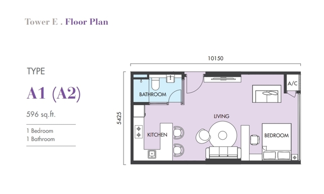 Ekocheras Service Apartment Floor plan #1