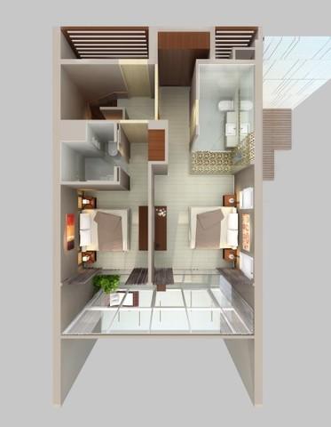 Two bedroom suite in Laguna Phuket Floor plan #1