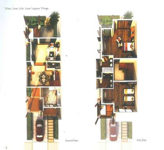 Two bedroom townhome with common pool in Laguna Phuket Floor plan #1