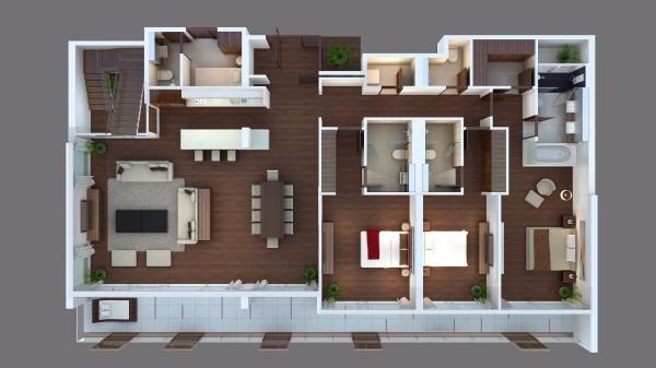 3 bedroom suite with private pool in Laguna Phuket Floor plan #2