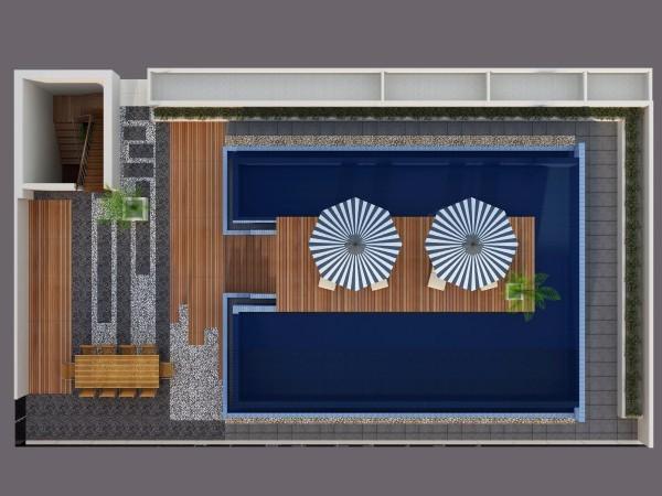 3 bedroom suite with private pool in Laguna Phuket Floor plan #1
