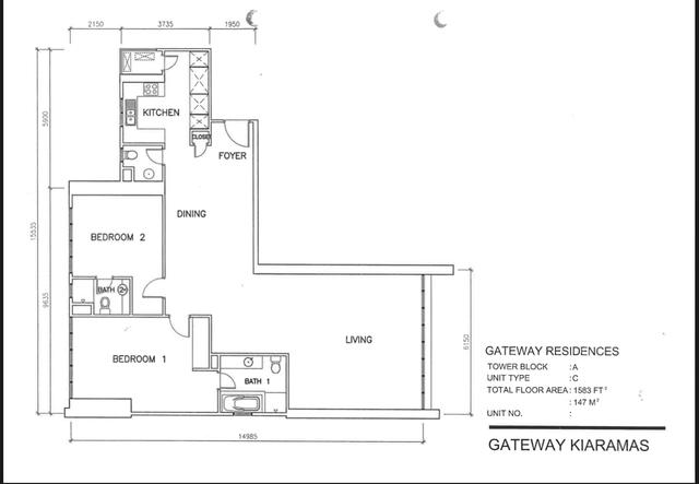 Kiaramas Gateway Floor plan #1