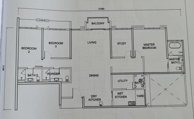 PAVILION HILLTOP @MONT KIARA  Floor plan #1