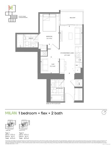 M4 Condos Floor plan #3