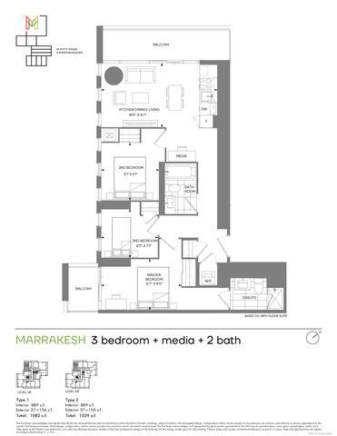 M4 Condos Floor plan #2
